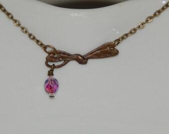 Flying Dragonfly necklace. minimalist jewelry, handmade dragonfly necklace, dragonfly necklace, handmade jewelry, flying dragonfly, gifts