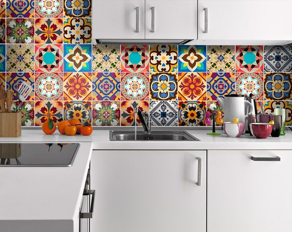 Azulejos Baño Vinilo:Traditional Talavera Tile Decals