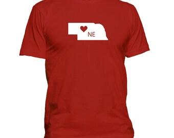 Love Nebraska T-shirt, home state t shirt, gift idea 100-58