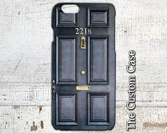 Sherlock Holmes Inspired Phone Case, Door Number 221B Phone Case, Iphone 4/5/5c/6/6+/6s, Samsung Galaxy S3/S4/S5/S6/S6 Edge/6Edge+, Note5