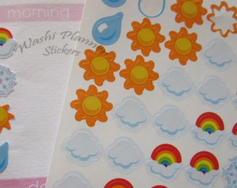 Weather Planner Sticker Sheets, 100 Mini Weather Stickers for your Planners to keep track of the weather daily