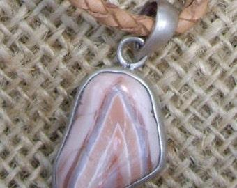 Malawian Agate Silver Encased Pendant
