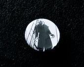 "Nosferatu Pinback Button - 1"" Pins Classic Horror Film Vampire"