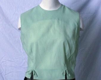 Vintage 60's Mint Sleeveless Blouse- size Large