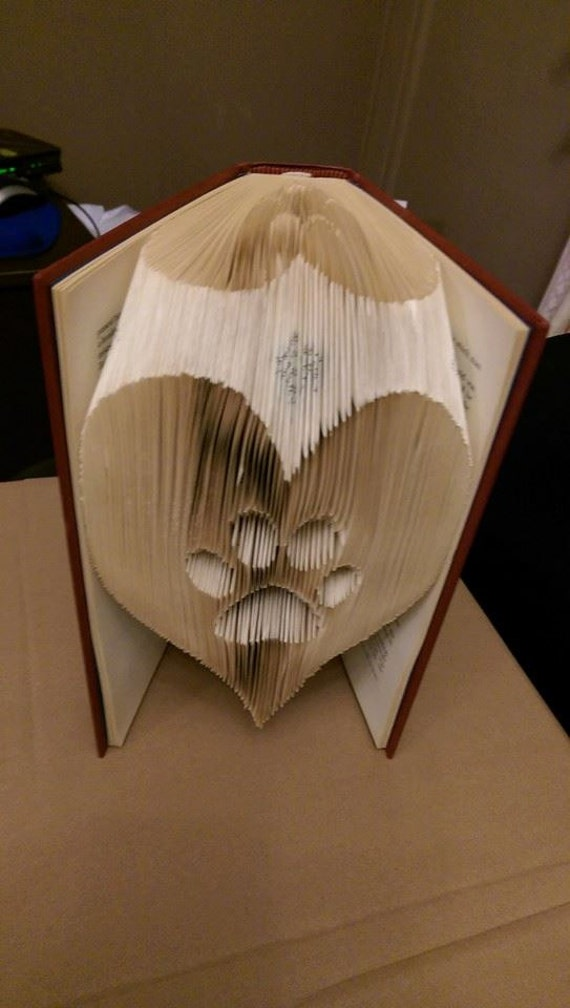 Paw In A Heart Folded Book Art Pattern Pdf Book Folding