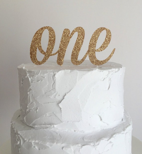 Rose gold glitter first birthday cake topper by mikaspartyshop for Number 1 birthday cake template