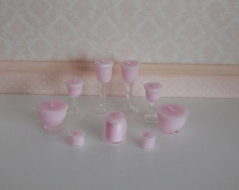 1:12 DOLLHOUSE Candle. pink collection