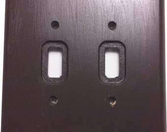 Wooden Double Toggle Lightswitch  Light Switch Plate
