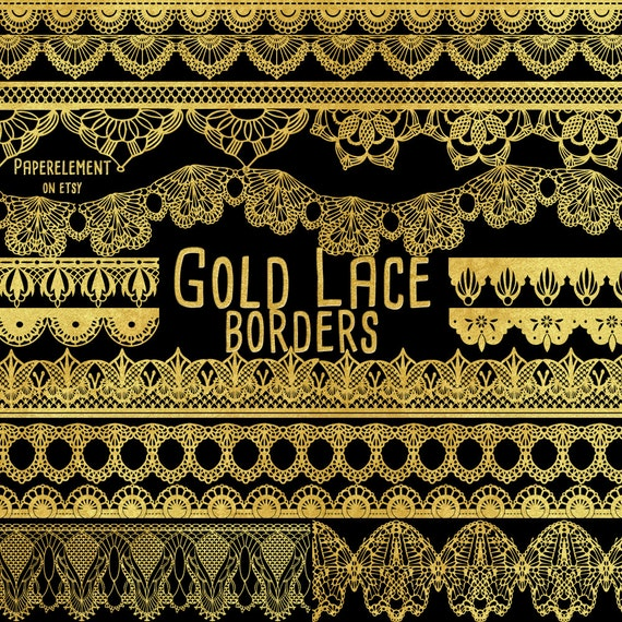 Gold Lace Borders: Gold Border Clipart Gold Lace by ...