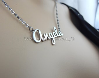 Custom Name Necklace - Custom Made Name Necklace Stainless Steel