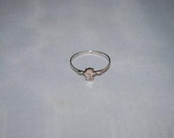 Sterling silver smokey quartz ring size 8
