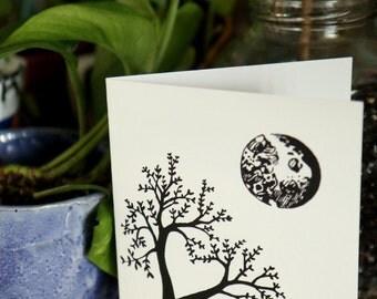 Heart Tree Silhouette Card