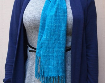 Hand woven scarf, hand dyed superfine merino and silk blend. Fair Trade!