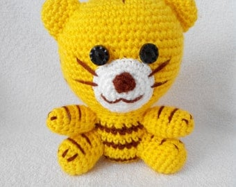 Tiger Crochet  Toy gift