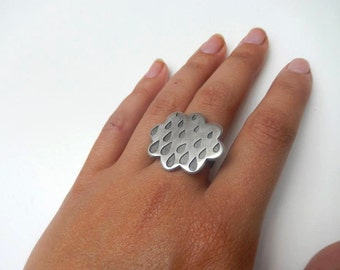 bague argent nuage/cloudy silver ring