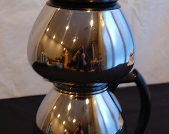 40s Sunbeam Coffeemaster Double Bubble C20-B Vacuum 8 cup Coffee Pot Stainless Steel & Chrome Electric w/new power cord