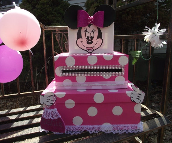 Mailbox Map Minnie Mouse Pink With White Polka By