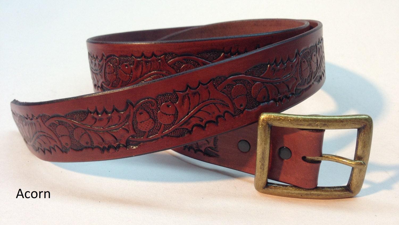 acorn mahogany leather belt s s belt