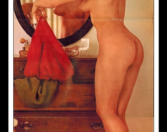 "Mature Playboy June 1964 : Playmate Centerfold Lori Winston 3 Page Spread Photo Wall Art Decor 11"" x 23"""
