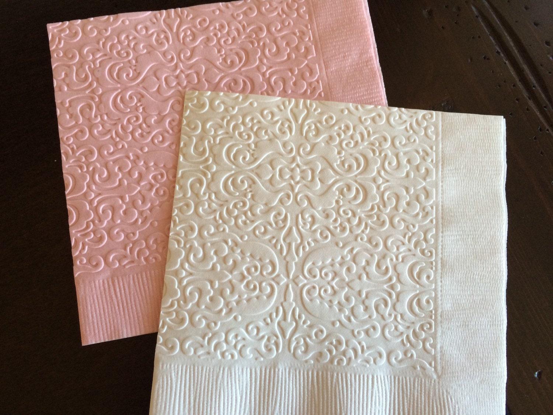 damask paper napkins cocktail napkin wedding party bridal