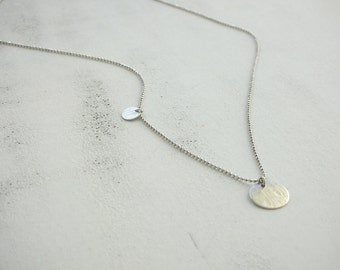 925 Silver necklace 1 mm - desired initial