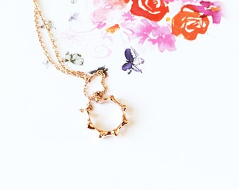 Rose Gold Sun Necklace 18K Rose Gold Sun Totem Necklace Couple Friends Mother Daughter Necklace Simple Everyday Charm Necklace Ideal Gift
