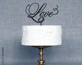 Cake Topper-LOVE for weddings by AcrylicArtDesign