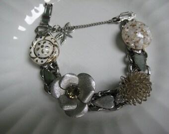 Vintage Earring Bracelet (19) Wedding, Bride, Repurposed, Vintage Earrings, Bridesmaid