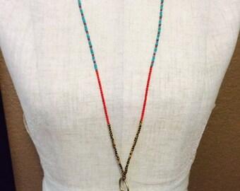 Boho Key & Tassle Necklace #1