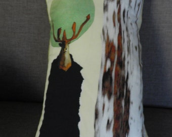 Deer drawing cushion