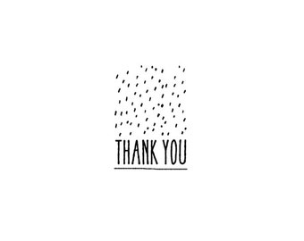 Thank You Rubber Stamp - Thanks Business Rubber Stamp - Shop Thank You Stamp