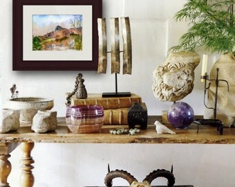 watercolor landscape Painting of Jerusalem Israel | judaica | bar mitzvah gift | jewish art | jewish gifts | hanukkah gift idea | PRINT
