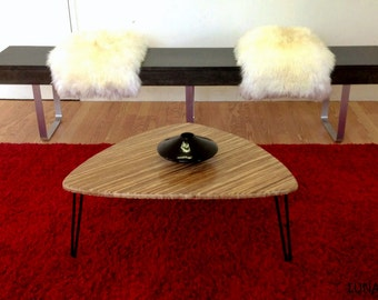 SAMPLE SALE 1 ONLY  Mingus Tiger Bamboo coffee table Mid Century Modern Design