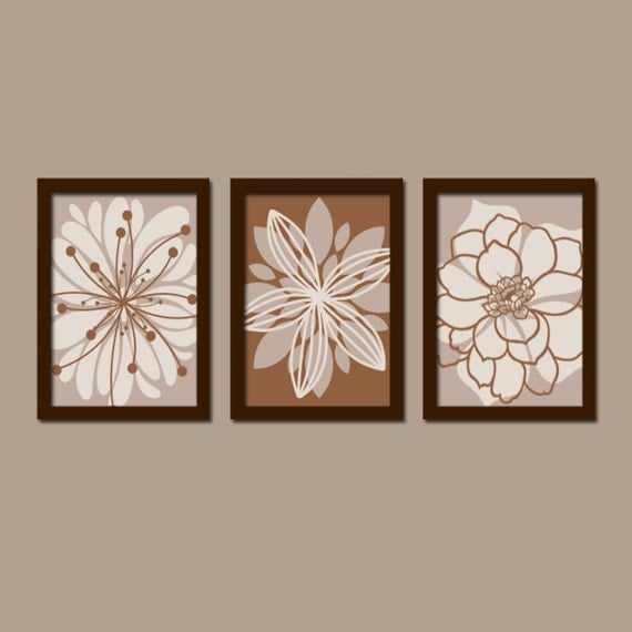 Wall Art Canvas Brown : Brown bedroom wall art canvas or prints tan bathroom decor