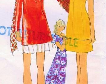 1960s Vogue 7782 Vintage Sewing Pattern Misses Mini Dress, Maxi Dress, Tunic & Mini Skirt Size 12 Bust 34