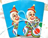 Vintage Circus CLOWN Playing Cards, A Set Of TEN Cards