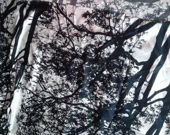 Marimekko black & white Tuuli sateen piece