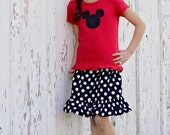 Boutique Mickey Mouse Inspired Skirt and Shirt