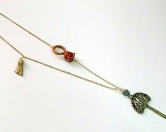 The Tree of Life, Buddha Foot & Buddha Face Necklace