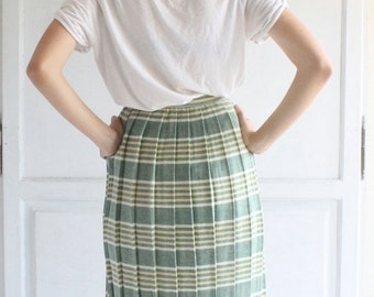 vintage deadstock pleated skirt 60s . new old stock