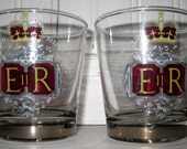 1977 Queen's Silver Jubilee Glasses, Tumblers AND Stainless Steel Scatter Dishes, Coasters