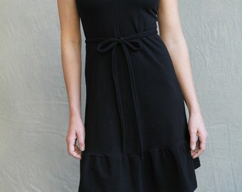 Laila Dress, women's dress, little black dress, modern jersey dress, made to order