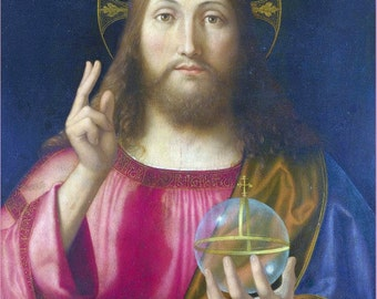 antique catholic religion illustration portrait Jesus Christ DIGITAL DOWNLOAD