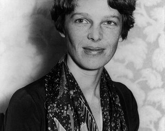 Amelia Earhart pilot lost at sea image  8 x 10 reproduced on 8 1/2 x 11 heavy card stock