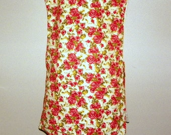 Kitchen Cobbler Lined Full Apron Smock Rose Floral  Handmade for Cooking Cleaning Craft Activities