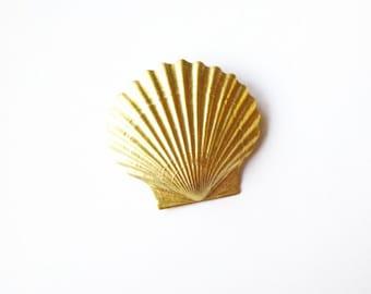 Beach Wedding Hair Accessories Gold Bridal Clip Bridesmaid Mermaid Barrette Nautical Ariel Seashell Sea Shell Womens Gift For Her Summer
