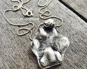 Custom 3D Paw Print Necklace-Pet Memorial Jewelry-Paw Print Jewelry-Cat Jewelry- Dog Jewelry-