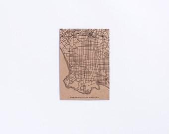 Street | Los Angeles City Map Letterpress Postcard