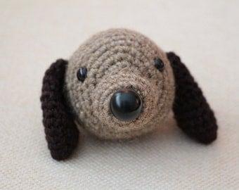 Dog Chinese Zodiac Amigurumi - READY TO SHIP - Montessori - Toy - Cute - brown