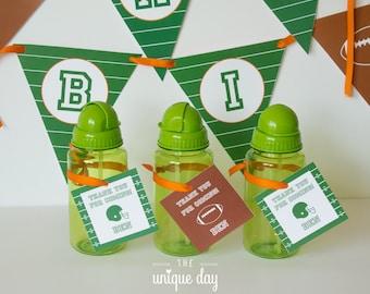 Football Birthday Favor Tags - football party thank you tags - DIY you print // FOO - 07